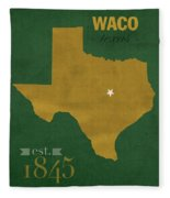 Baylor University Bears Waco Texas College Town State Map Poster Series No 018 Fleece Blanket