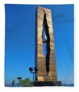 Teardrop  9 - 11 Memorial Bayonne N J Fleece Blanket