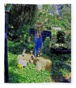 Bayou Crow Scarecrow At Bellingrath Gardens Fleece Blanket
