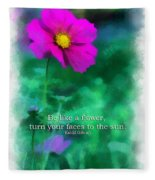 Be Like A Flower 01 Fleece Blanket