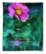Be Like A Flower 02 Fleece Blanket