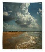 Beach And Clouds Fleece Blanket