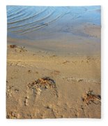 Beach And Rippled Water. Fleece Blanket