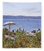 Beach At Maury Island Fleece Blanket