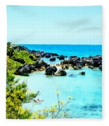 Beach At St. George Bermuda Fleece Blanket
