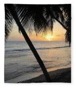 Beach At Sunset 4 Fleece Blanket