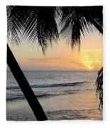Beach At Sunset 5 Fleece Blanket