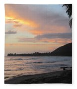 Beach At Sunset 6 Fleece Blanket