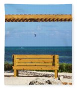 Beach Bench Fleece Blanket