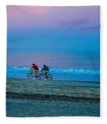 Beach Biking  Fleece Blanket