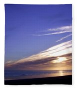 Beach Blue Sunset Fleece Blanket