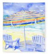 Beach Chairs Fleece Blanket