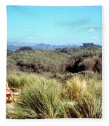 Beach Chairs With A View Fleece Blanket
