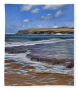 Beach Colors Fleece Blanket