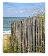 Beach Fence Fleece Blanket