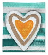 Beach Glass Hearts Fleece Blanket