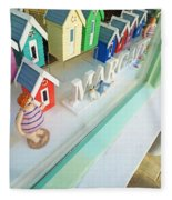 Beach Huts For Sale Fleece Blanket