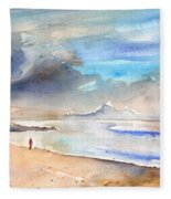 Beach In Lanzarote Fleece Blanket
