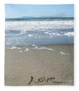 Beach Love Fleece Blanket