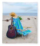 Beach Music Fleece Blanket