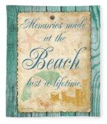Beach Notes-a Fleece Blanket