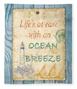 Beach Notes-c Fleece Blanket