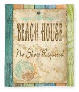 Beach Notes-d Fleece Blanket