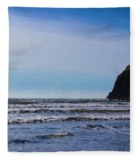 Beach On The Oregon Coast Fleece Blanket