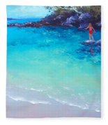 Beach Painting - A Day To Remember Fleece Blanket