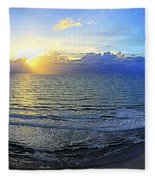 Beach Panorama Fleece Blanket