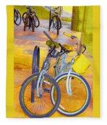 Beach Parking For Bikes Fleece Blanket