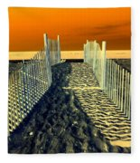 Beach Path Fleece Blanket