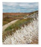 Beach Plums Fleece Blanket