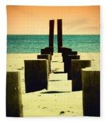 Beach Pylons Fleece Blanket