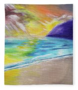 Beach Reflection Fleece Blanket