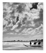 Beach Riders Fleece Blanket by Dave Bowman