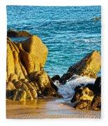 Beach Rocks Fleece Blanket