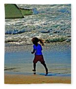 Beach Run Fleece Blanket