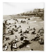 Beach Sean France  Circa 1900 Fleece Blanket