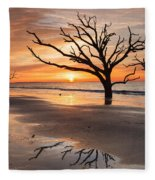 Awakening - Beach Sunrise Fleece Blanket