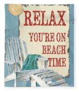 Beach Time 1 Fleece Blanket