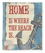 Beach Time 2 Fleece Blanket
