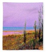 Beach Trees Fleece Blanket