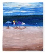 Beach Umbrellas Fleece Blanket