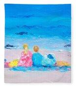 Beach Vacation Fleece Blanket