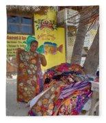 Beach Vendor Fleece Blanket