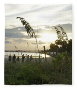 Beach Volleyball Fleece Blanket