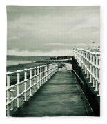 Beach Walkway Fleece Blanket