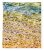 Beach Water Abstract Fleece Blanket