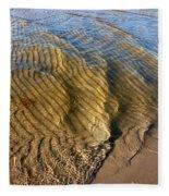 Beach Wave Pattern. Fleece Blanket